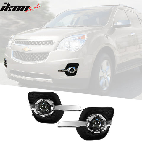 Fits 10-16 Chevy Equinox Assembly Fog Lights Replacement+Switch Projec