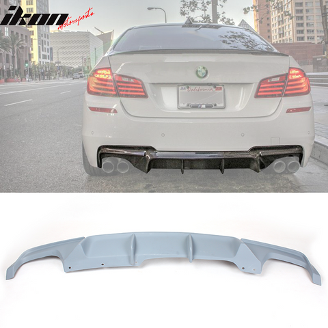 Fits 11-16 BMW F10 M-Tech M-Sport Rear Diffuser V Gray Primer
