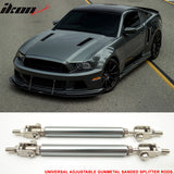 Fits Universal Gunmetal Sanded Adjustable 5.5-8 Inch Bumper Lip Diffus