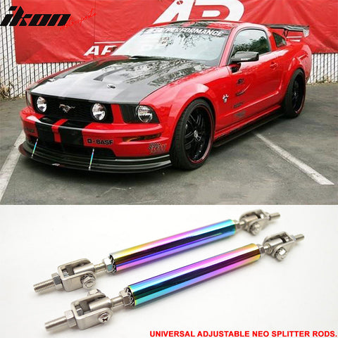 Universal Neochrome Adjustable 5.5-8 Inch Bumper Lip Diffuser Splitter