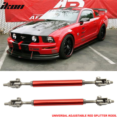 Red Adjustable 5.5-8 Bumper Chin Lip Diffuser Rod Splitter Support Pro
