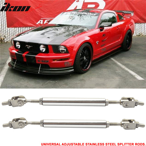 Adjustable 5.5-8 Inch Bumper Lip Spoiler Diffuser Rod Splitter Support