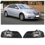 Fits 07-09 Toyota Camry Front Bumper Clear Fog Lights With Black Bezel