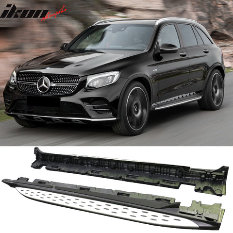 Fits 16-17 Mercedes X253 GLC300 Running Boards Side Step Nerf Bar Pair