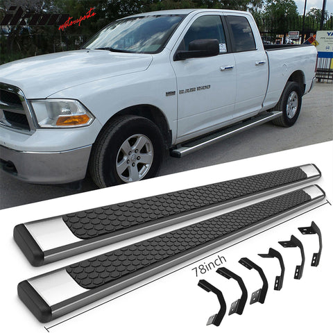 Fits 09-18 Dodge Ram Quad Cab 78inch OE Style Step Bars Running Boards