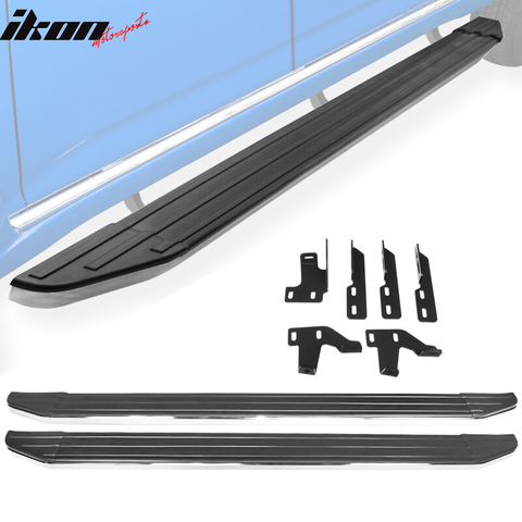 Fits 09-15 Honda Pilot V2 Style Running Boards Side Step Bar Aluminum