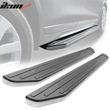 Fits 16-20 Honda Pilot V2 Style Running Board Side Step Bar Pair - Alu