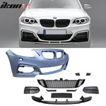 Fits 14-20 BMW F22 F23 MP Style Front Bumper Conversion W/ Mesh Grille