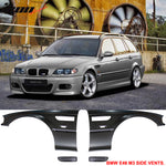 Side Fenders Compatible With 1998-2002 E46, 3 Series 2Dr M3 Style Meta