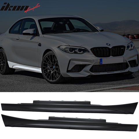Fits 11-21 BMW F22 F23 2 Series M2 Style Side Skirts In Pair - PP
