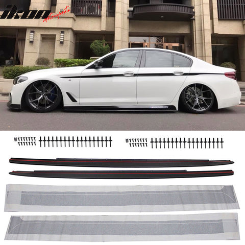 Fits 17-20 BMW G30 MP Side Skirt Extension Sills & Decal Kit PP