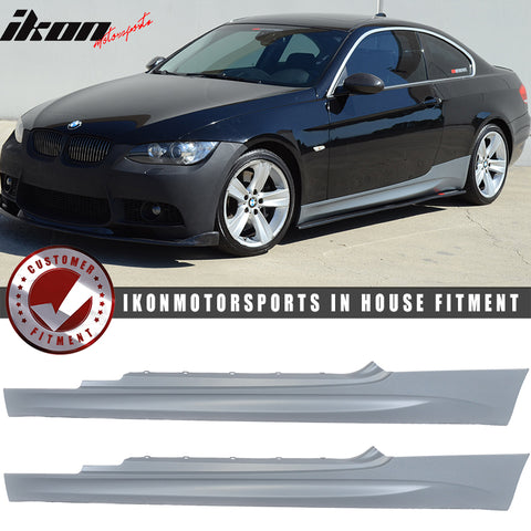 Fits 07-13 BMW E92 E93 3-Series 2Dr M3 Style Side Skirts Extension Pan