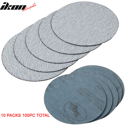 100PC 5in 127mm 80 Grit Auto Sanding Disc Sandpaper Sheets Sand Paper