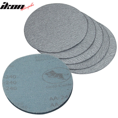 10PC 5in 127mm 240 Grit Auto Sanding Disc Sandpaper Sheets Sand Paper