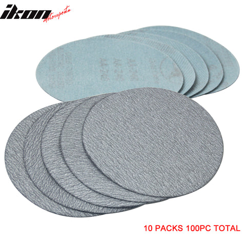 100PC 5in 127mm 240 Grit Auto Sanding Disc Sandpaper Sheets Sand Paper