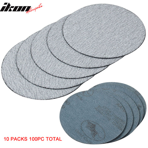 100PC 5in 127mm 100 Grit Auto Sanding Disc Sandpaper Sheets Sand Paper
