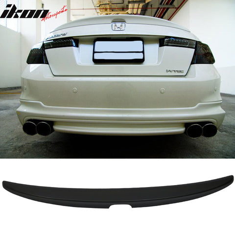 08-12 Honda Accord 4Dr OE Style Trunk Spoiler Unpainted - ABS