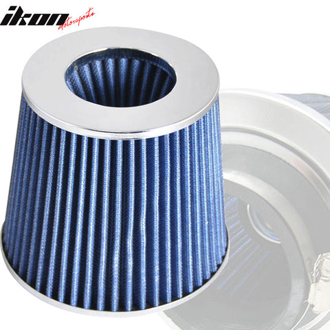 Fits 3 Inch Race Air Intake Filter Blue Color 88-12 Civic