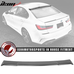 Fits 19-20 BMW 3 Series G20 Ikon Style Roof Spoiler Wing Lip Matte Bla