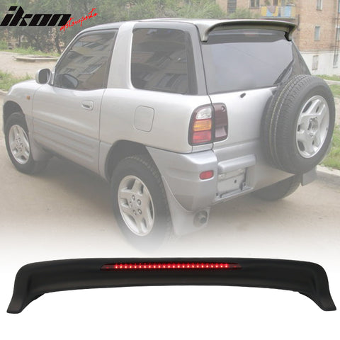 Fits 94-00 RAV4 OE Factory Style Roof Spoiler  & LED Light Matte Black