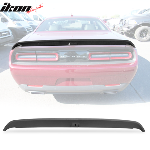 Fits 15-21 Dodge Challenger Trunk Spoiler W/ Camera Matte Black ABS