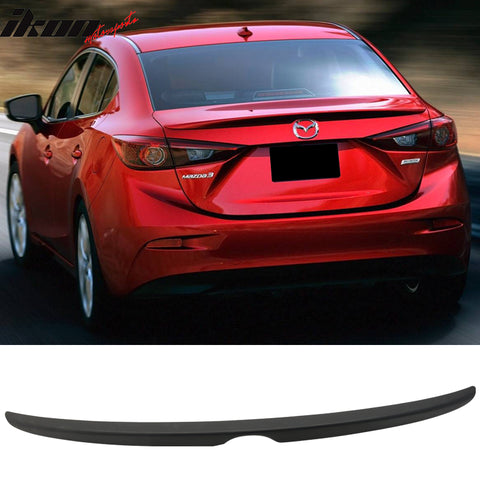 Matte Fits 14-18 Mazda 3 Mazda3 Sedan Flush Factory Trunk Spoiler