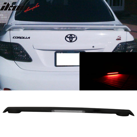 Matte Fits 09-13 Corolla S LE XLE XRS Trunk Spoiler & LED Brake Lamp