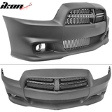 Fits 11-14 Dodge Charger SRT8 Style Front Bumper Cover Conversion PP