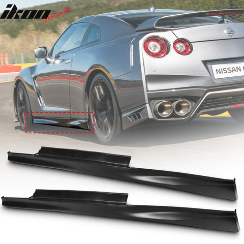 Fits 09-18 Nissan R35 GTR GT-R Coupe PP Side Skirts Ext Rocker Panels
