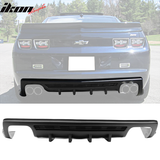 Fit 10-13 Camaro ZL1 Model Only Ikon Shark Fins Rear Bumper Diffuser