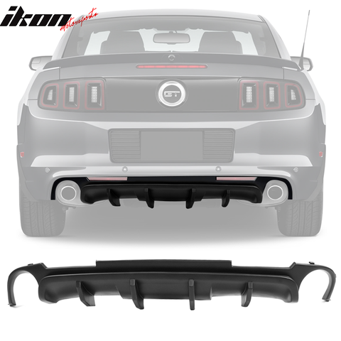 Fits 13-14 Ford Mustang California V2 Rear Bumper Lip Diffuser - PP