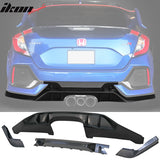 Fits 17-20 Honda Civic Hatchback Type R Rear Bumper Lip Conversion Kit