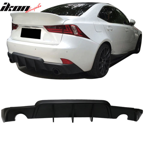 Fits 14-16 Lexus IS 250 IS350 W Style Rear Bumper Lip Diffuser - PU