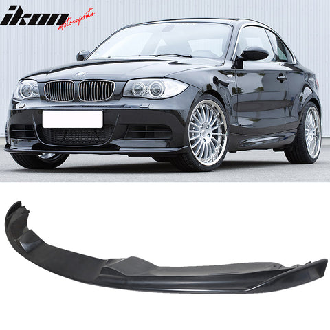 Fits 07-11 BMW E82 1 Series H Front Bumper Lip - PU