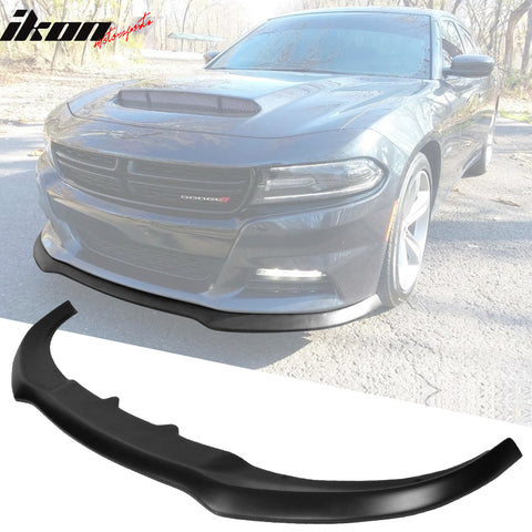 Fits 15-21 Dodge Charger RT Ikon Front Bumper Lip Un- PP