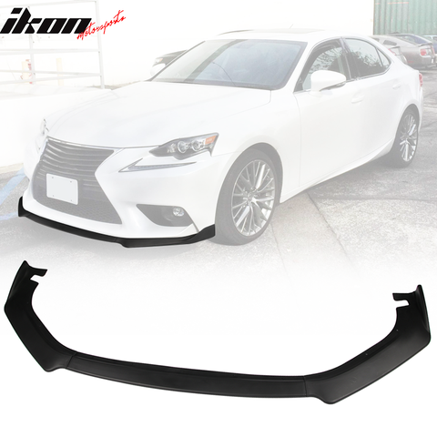 Fits 14-16 Lexus IS Base Front Bumper Lip Spoiler Splitter 3PCS Matte