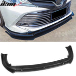 Fits 18-20 Toyota Camry V2 Style Black Front Bumper Lip Spoiler 3 Piec