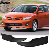 Fits 11-13 Toyota Corolla 4Dr Sedan OE Factory Style Front Bumper Lip