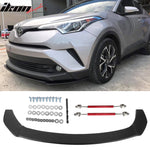 Fits 17-18 Toyota CHR Front Splitter Lip W/ Hardware PP & Red Rods