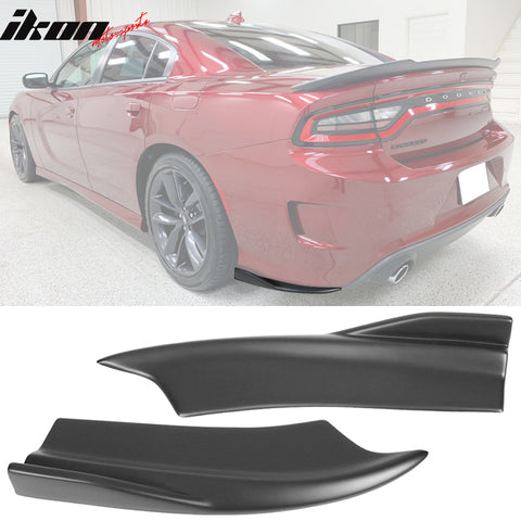Fits 15-20 Dodge Charger V2 Rear Bumper Lip Side Apron Matte