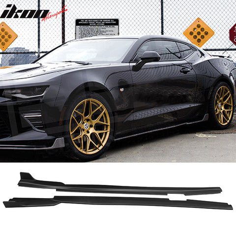 Fits 16-21 Chevy Camaro Ikon Side Skirts - Polypropylene (PP)