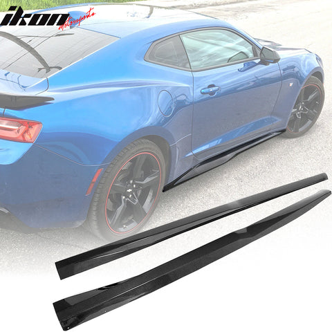 IKON MOTORSPORTS | Side Skirts Compatible With 2016-2020 Chevy Camaro