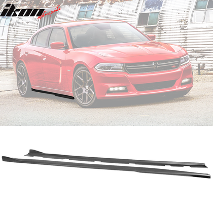 Fits 11-20 Dodge Charger V3 Side Skirts Rocker Panel Polypropylene