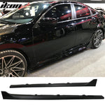 Fits 16-20 Honda Civic Sedan Side Skirts Step Extensions - PP