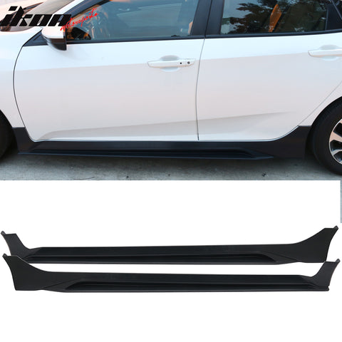 Fits 16-20 Honda Civic Sedan 10th Gen MUG Side Skirts Black PP