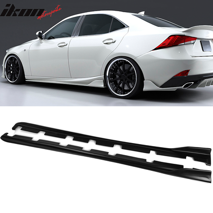 Fits 14-20 Lexus IS250 IS300 IS350 AR Style Side Skirts Matte Black -