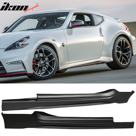 Fits 09-19 Nissan 370Z NS Side Skirts Pair UnBlack PP