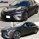 Fits 18-20 Toyota Camry IKON Style Side Skirts Matte Black - PP