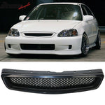 Fits Civic 99-00 T-R Front Bumper Lip Front Grille Sun Window Visor