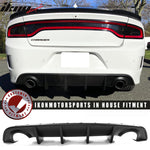 Fits 15-20 Dodge Charger Rear Diffuser Bumper + Pair Side Aprons Lip